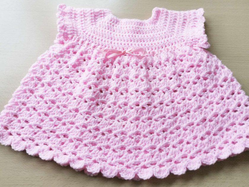 Gorgeous babies pink dress ,first size dress, pretty pink dress, shower gift, 1