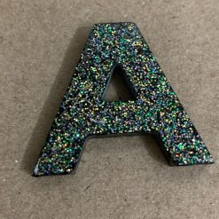 Resin letter A key chain or plain