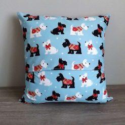 Christmas Scottie Dog Cushion 4