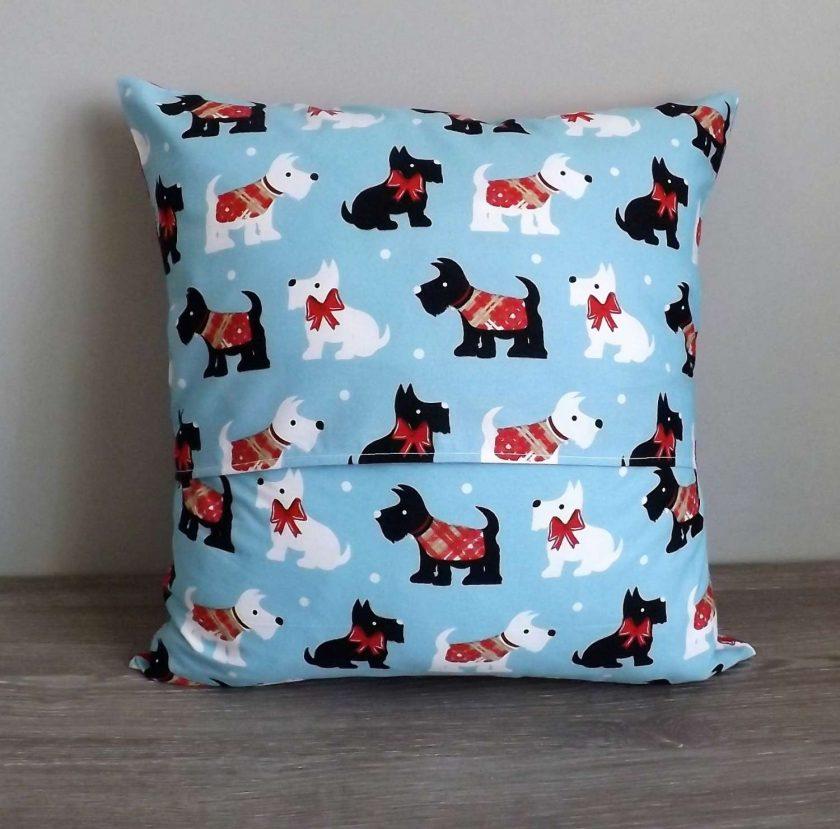 Christmas Scottie Dog Cushion 2