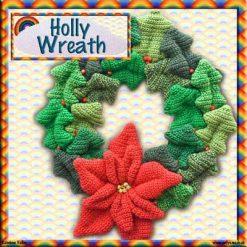 Holly Wreath - crochet kit 11