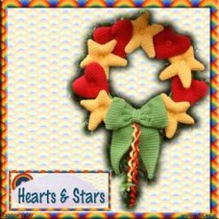 Hearts & Stars Wreath - crochet kit 9