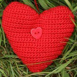 Hearts & Stars Wreath - crochet kit 13