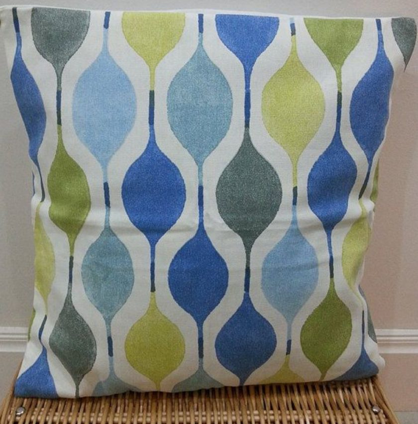 Blue Teardrop Cushion Cover SueLovelyCrafts 1