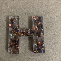 Resin letter H key chain or plain 5