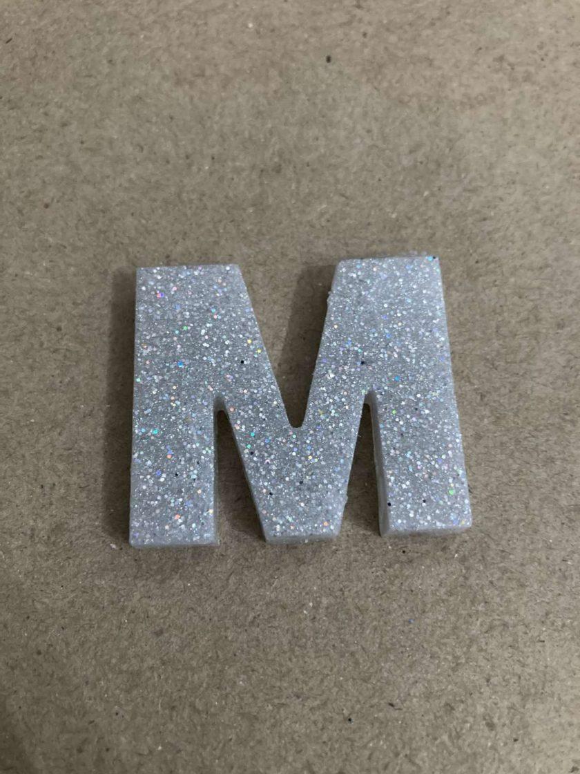 Resin letter M key chain or plain 1