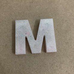 Resin letter M key chain or plain 5