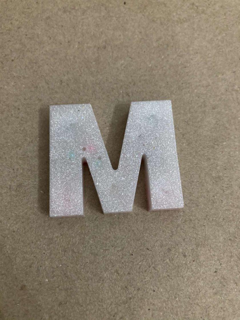 Resin letter M key chain or plain 2