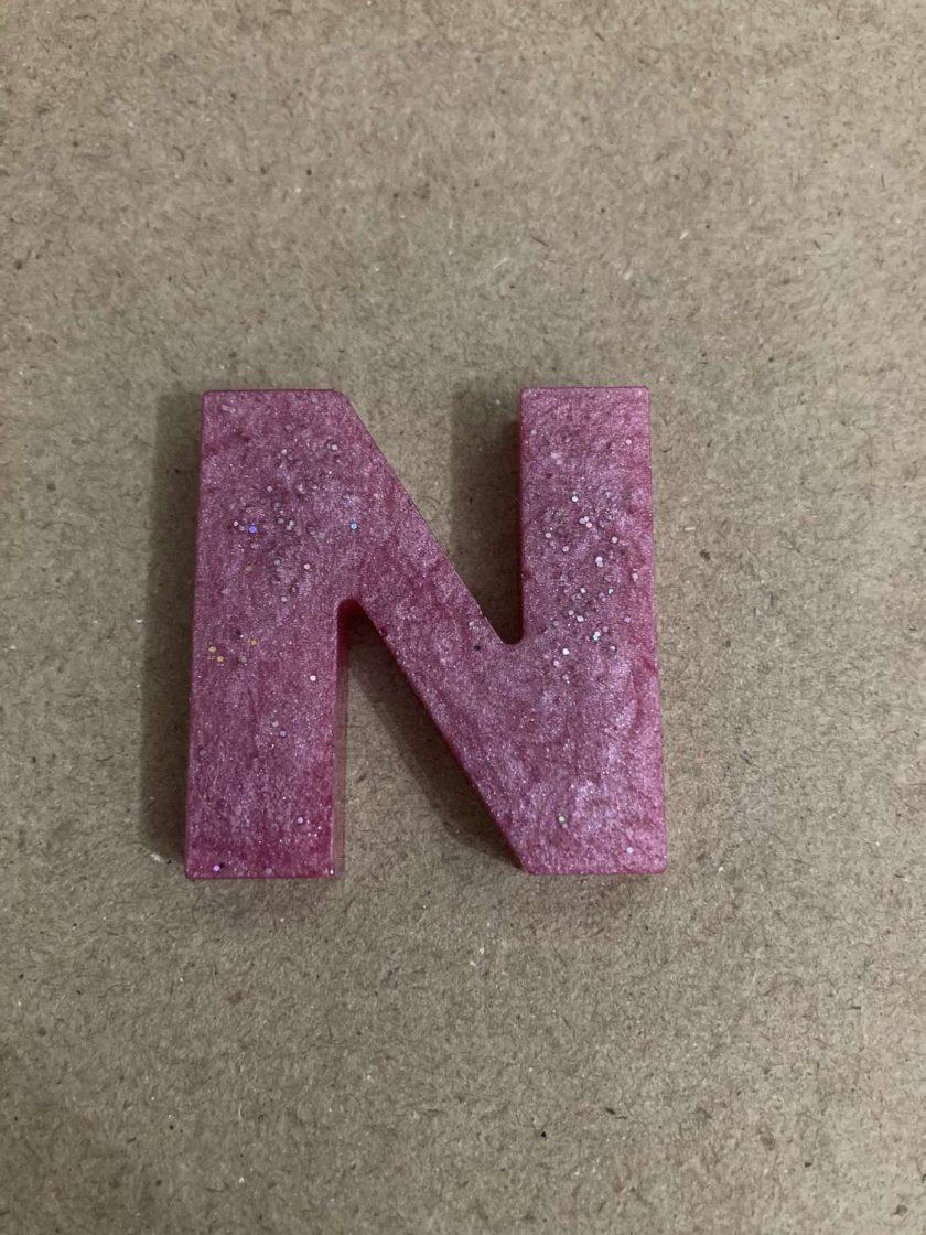 Resin letter N key chain or plain 2