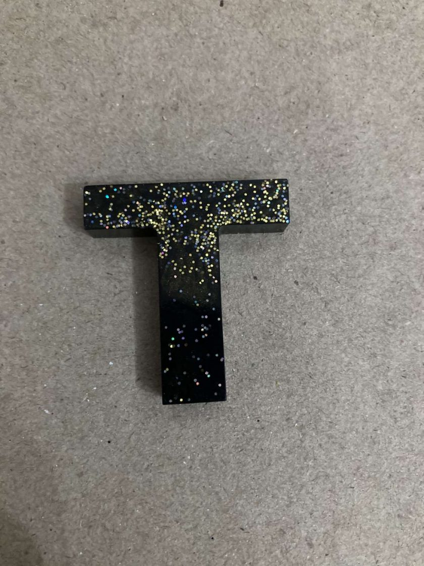 Resin letter T key chain or plain 1