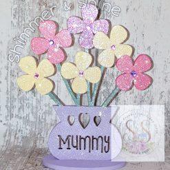 Personalised flower vase 10