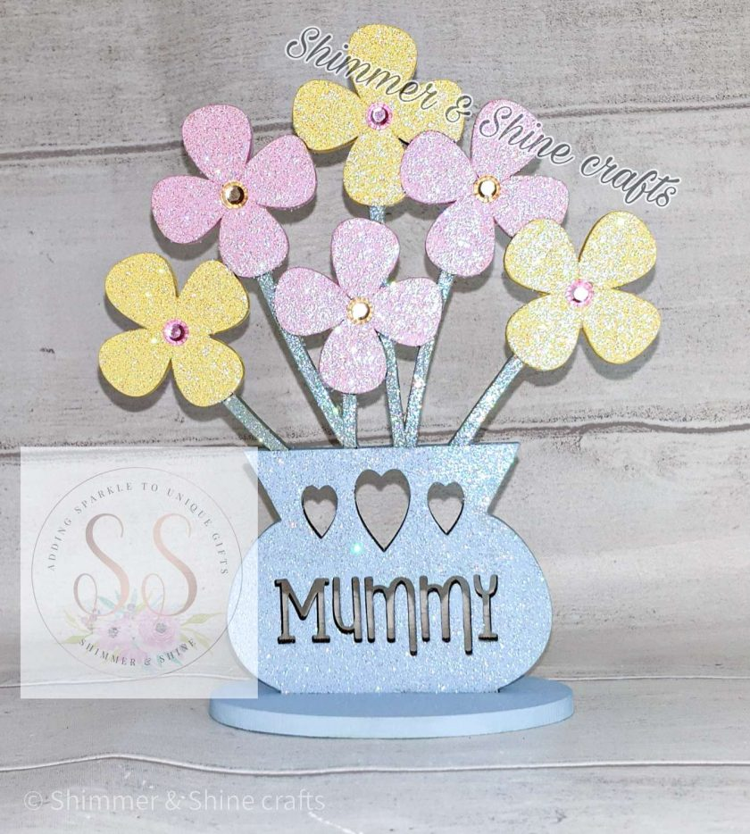 Personalised flower vase 3
