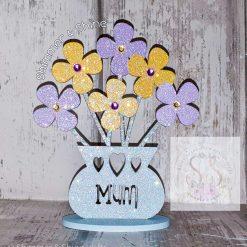 Personalised flower vase 12
