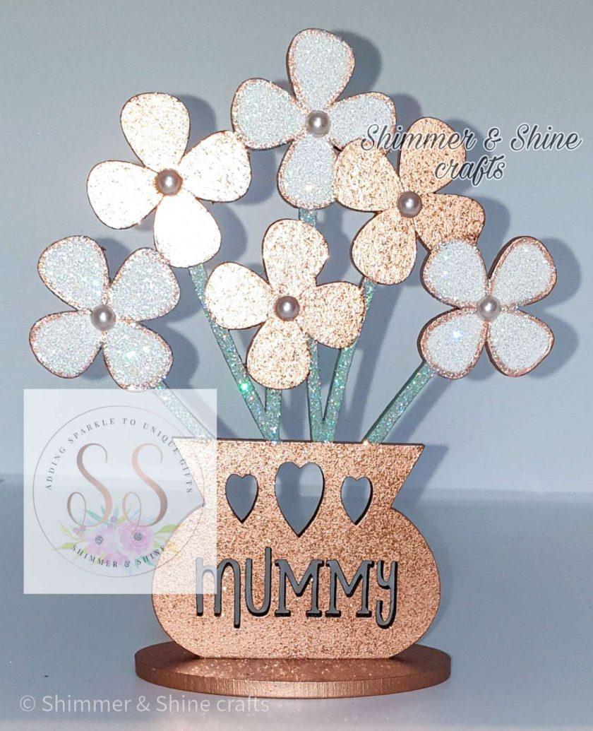 Personalised flower vase 6
