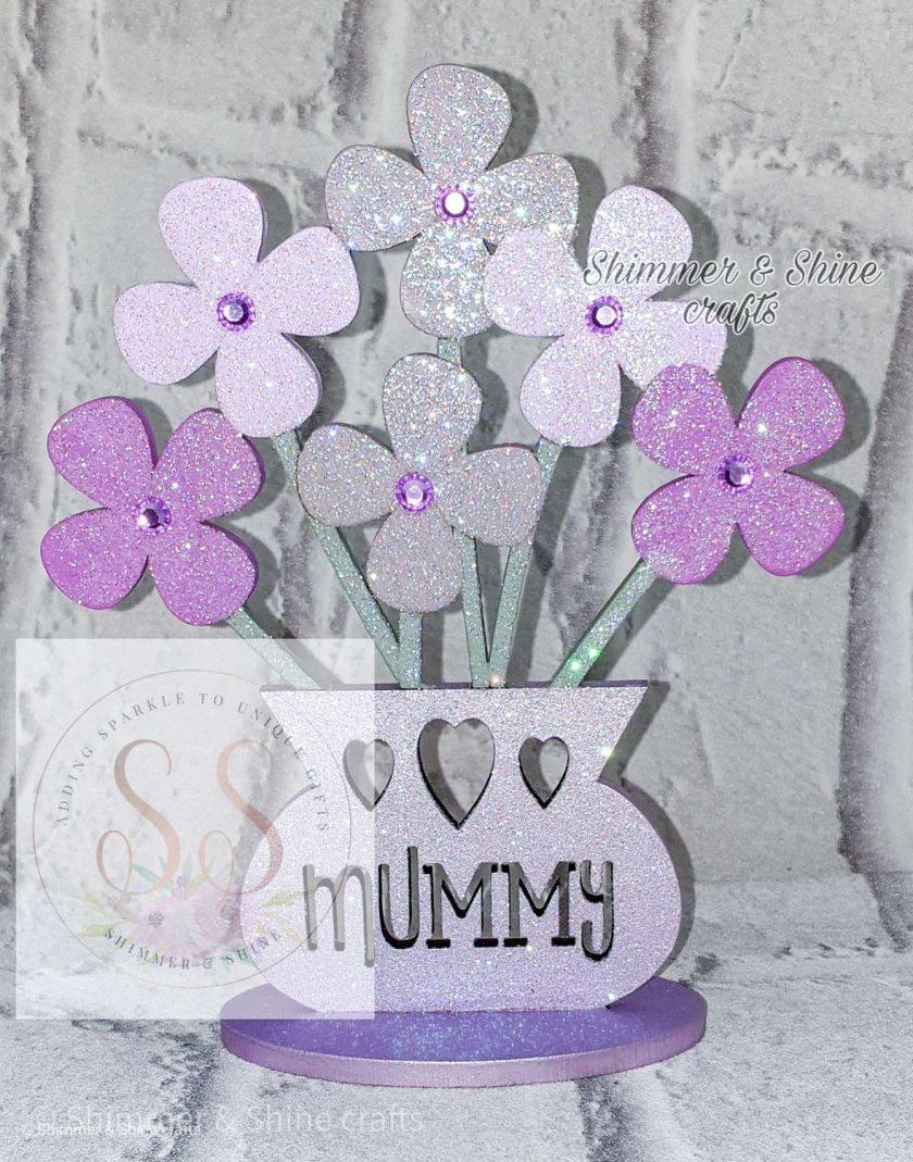 Personalised flower vase 8