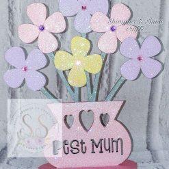 Personalised 20cm flower vase