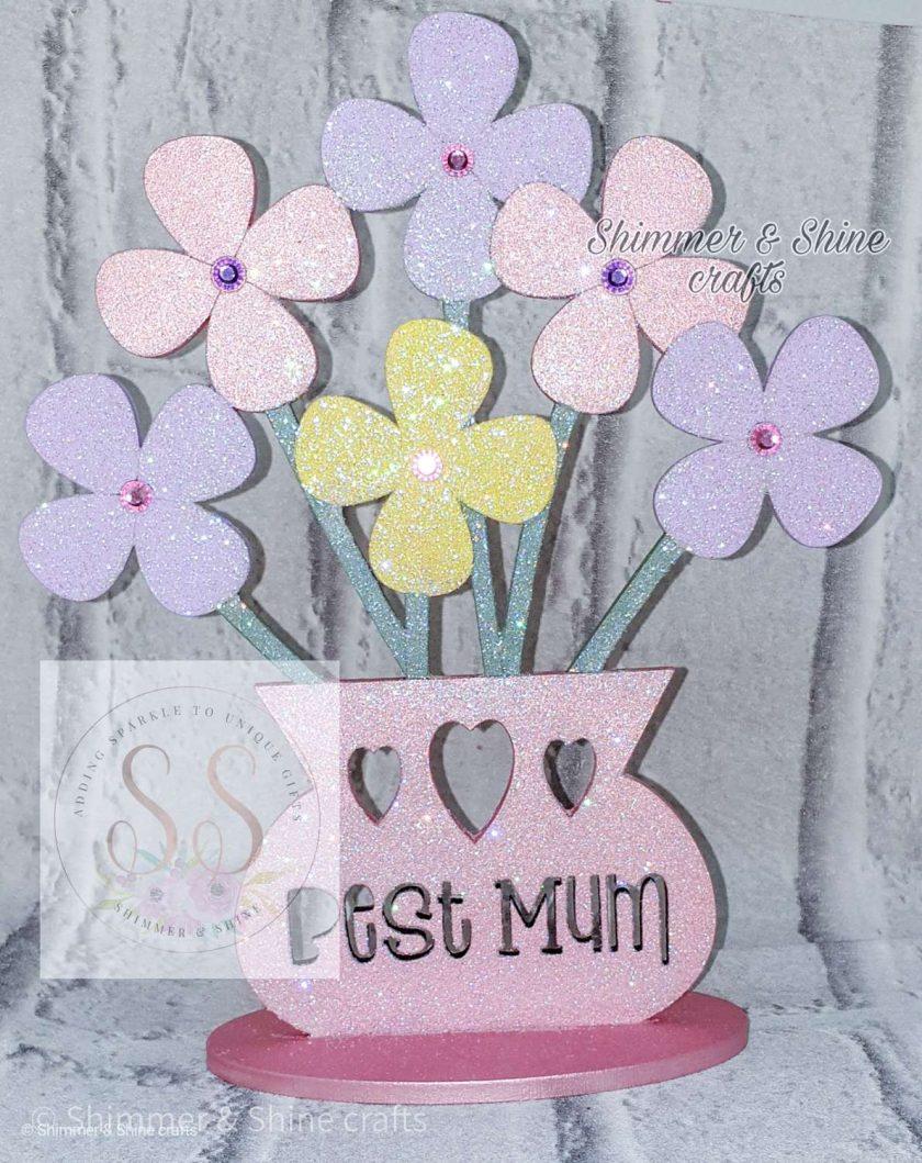 Personalised 20cm flower vase 1