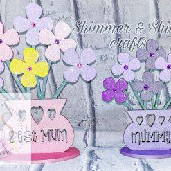 Personalised 20cm flower vase 3