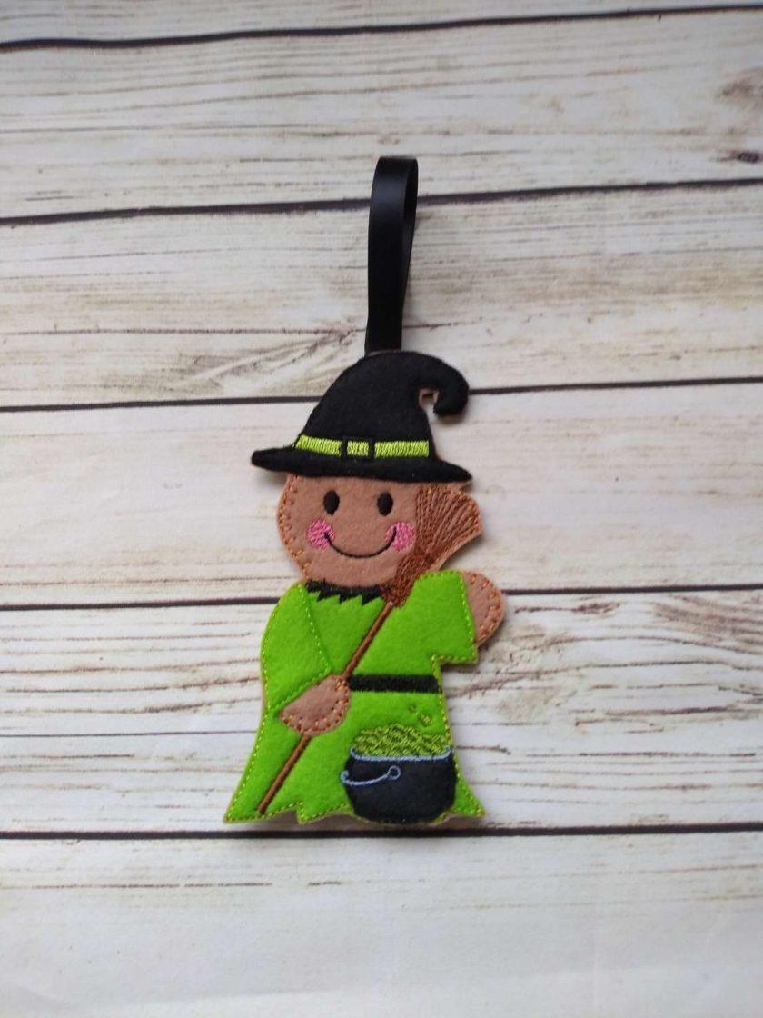 Halloween witch Gingerbread decoration -Halloween fridge Magnet 1