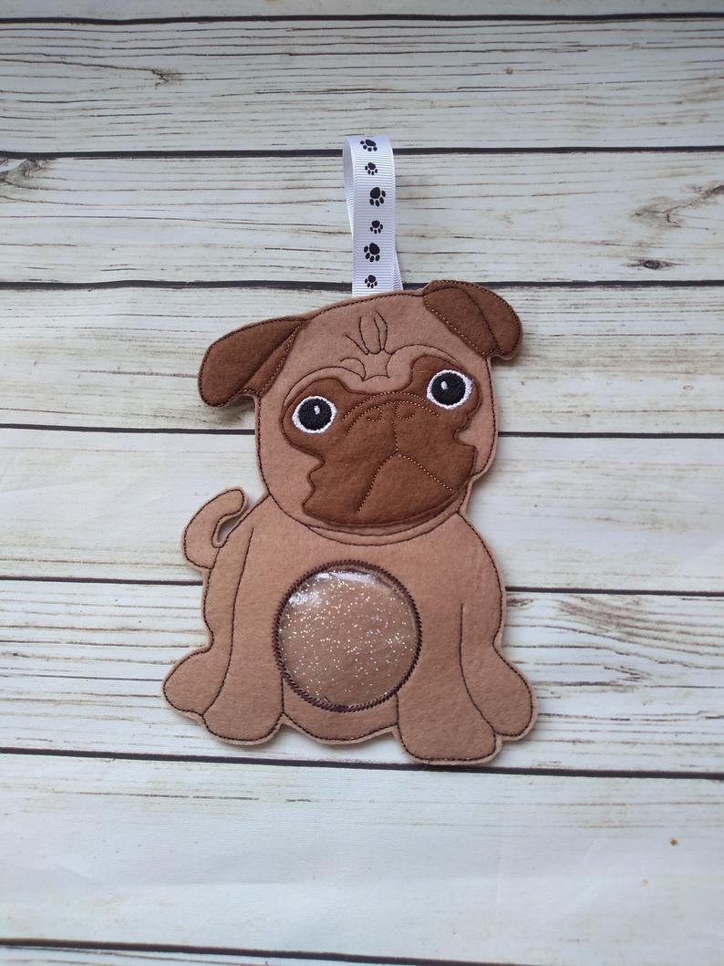 Pug dog gifts, pug dog treat bag 1