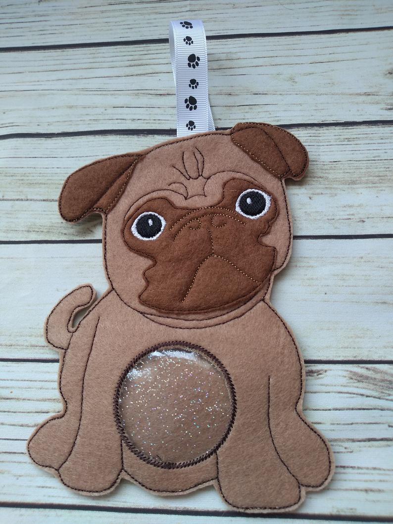 Pug dog gifts, pug dog treat bag 2