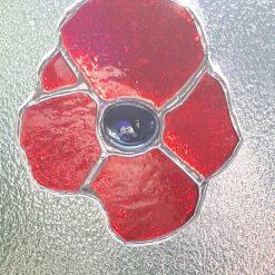 Stained glass poppy suncatcher 7