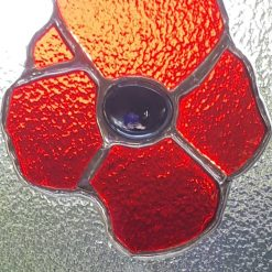 Stained glass poppy suncatcher 6
