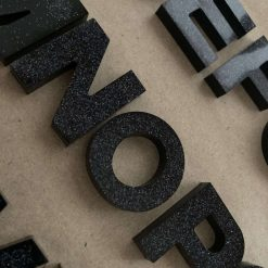 A - Z letters - black with glitter 3