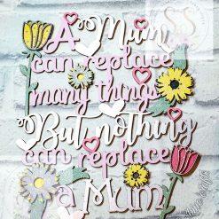 Hanging mum quote plaque