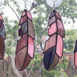Stained glass feather 18