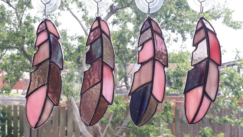 Stained glass feather 9
