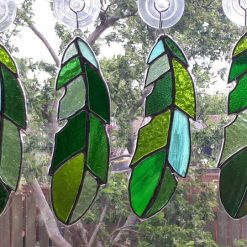 Stained glass feather 16