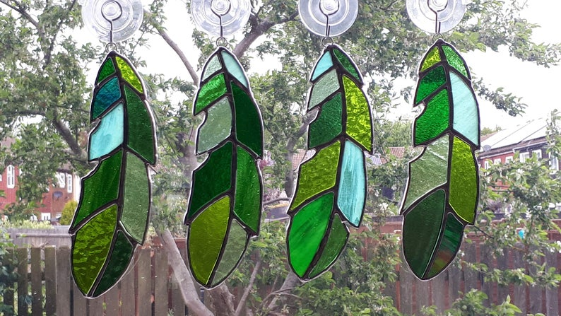 Stained glass feather 7