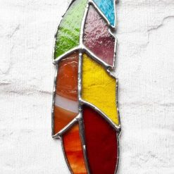 Stained glass feather 15