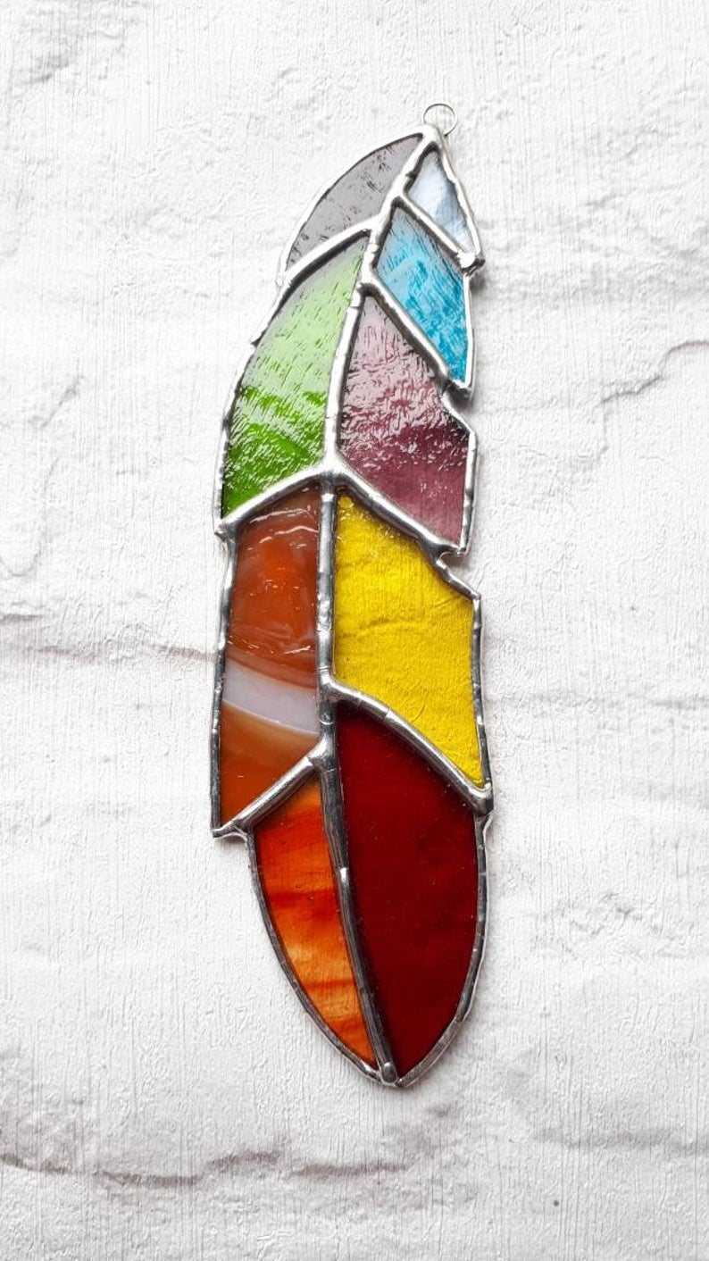 Stained glass feather 6