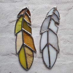 Stained glass feather 14