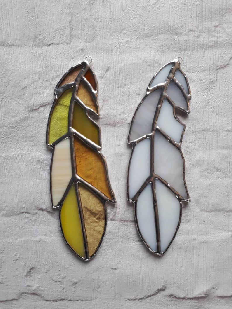 Stained glass feather 5