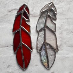 Stained glass feather 13