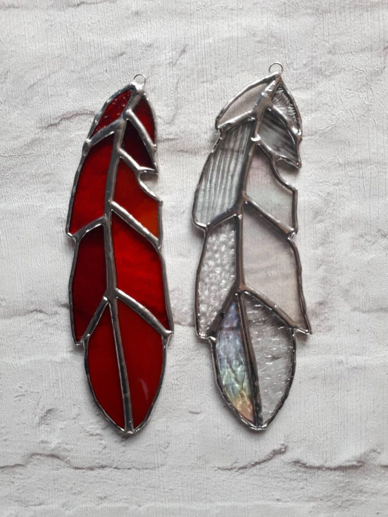 Stained glass feather 4