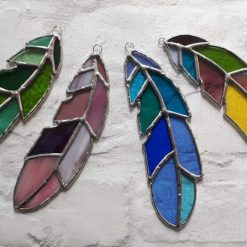Stained glass feather 12