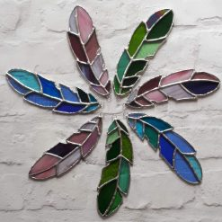 Stained glass feather 11