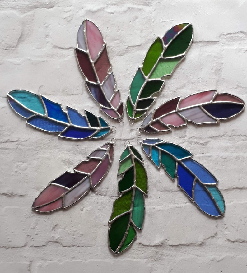 Stained glass feather 2