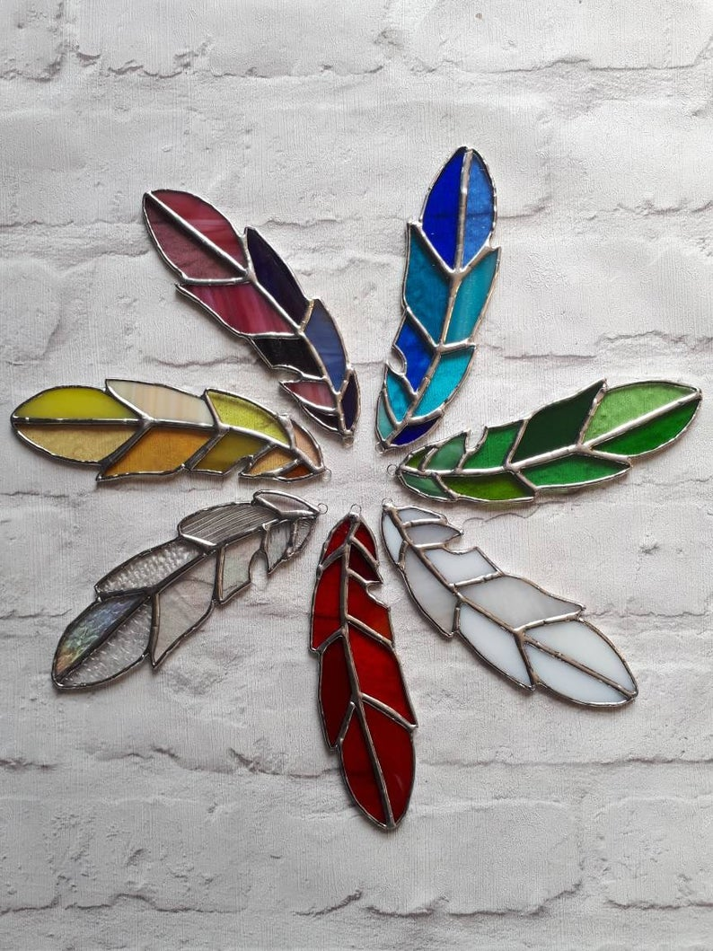 Stained glass feather 1