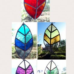 Stained glass leaves suncatchers 13