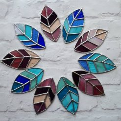 Stained glass leaves suncatchers 9