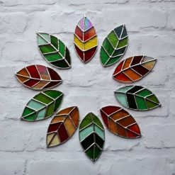 Stained glass leaves suncatchers 8