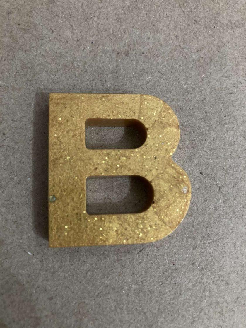 Resin letter B key chain or plain 3