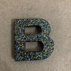 Resin letter B key chain or plain 8