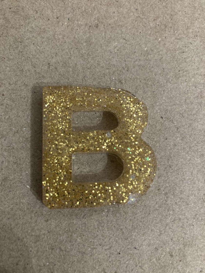 Resin letter B key chain or plain 5
