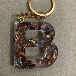 Resin letter B key chain or plain 6
